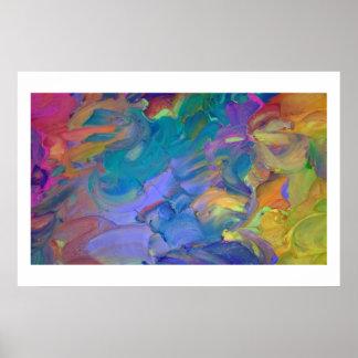 Arte abstracto en helar
