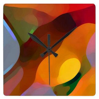 Arte abstracto encontrado paraíso reloj cuadrado