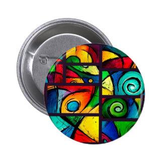 Arte abstracto enrrollado de Swirly Chapa Redonda 5 Cm