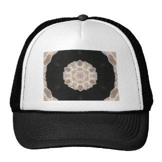 arte abstracto floral beige y poner crema gorras de camionero