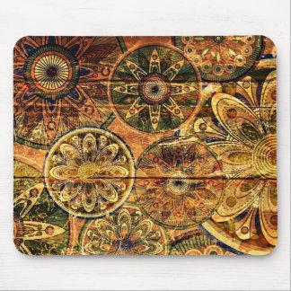 arte abstracto floral de madera del vector alfombrilla de ratones