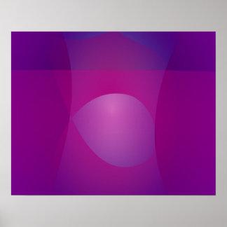 Arte abstracto fresco púrpura oscuro póster