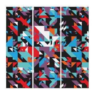 Arte abstracto geométrico al azar de la pared