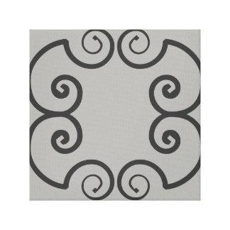 Arte abstracto geométrico de la pared de Swirly