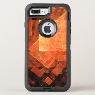 Arte abstracto ligero de la ventana funda OtterBox defender para iPhone 8 plus/7 plus