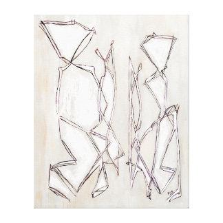 Arte abstracto moderno blanco y negro para los