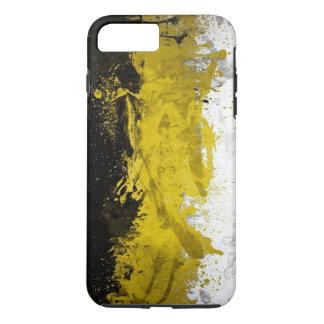 arte abstracto negro, amarillo, blanco funda iPhone 7 plus
