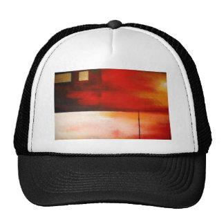 Arte abstracto original de la pintura gorras de camionero