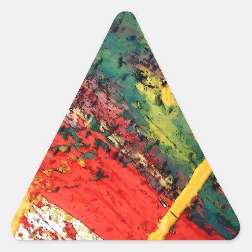Arte abstracto calcomanía triangulo