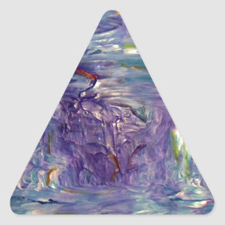 Arte abstracto pegatina triangular
