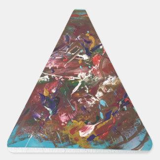 Arte abstracto pegatina triangular