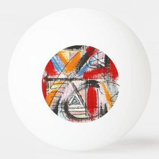 Arte abstracto pintado tercera Ojo-Mano Pelota De Ping Pong