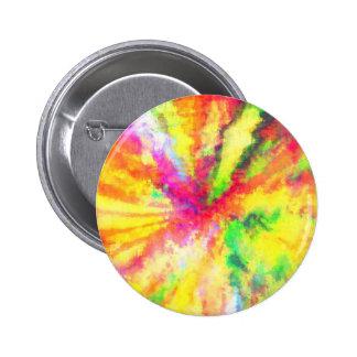Arte abstracto psicodélico de la acuarela chapa redonda de 5 cm