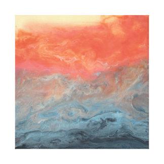 """Arte abstracto - """"puesta del sol tempestuosa """""""