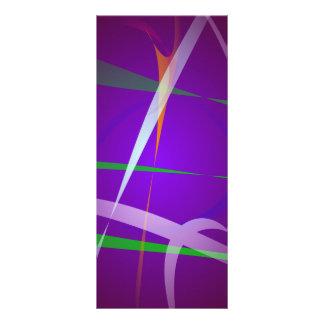 Arte abstracto púrpura azul Illuminating Lona Personalizada