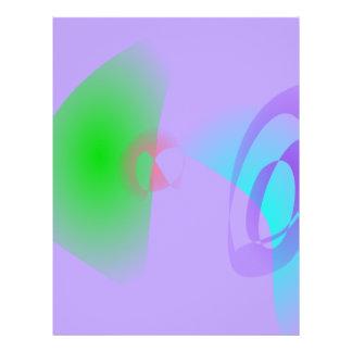 Arte abstracto purpúreo claro de los esquemas neto flyer personalizado