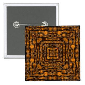 Arte abstracto retro del oro del art déco pin