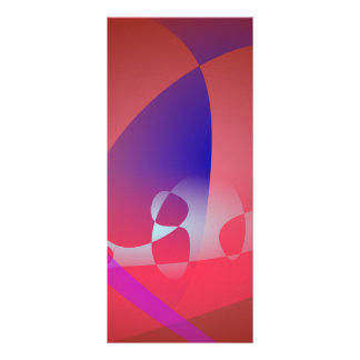 Arte abstracto simple rojizo 2 tarjeta publicitaria a todo color