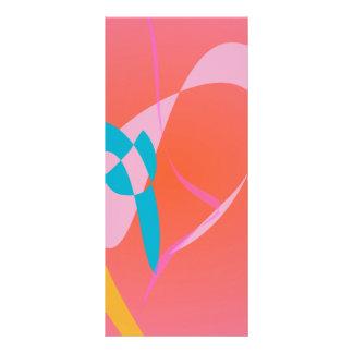 Arte abstracto simple rosado coralino tarjeta publicitaria