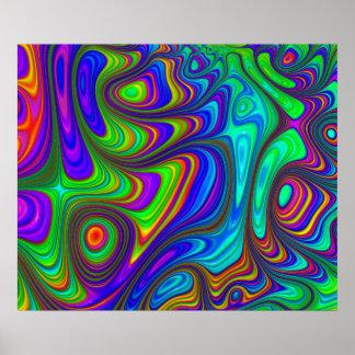 Arte abstracto texturizado 3D colorido del arco