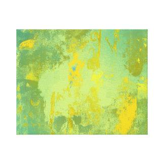 Arte abstracto verde y amarillo
