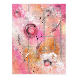 Arte abstracto - vuelo de la solidaridad tarjetas postales