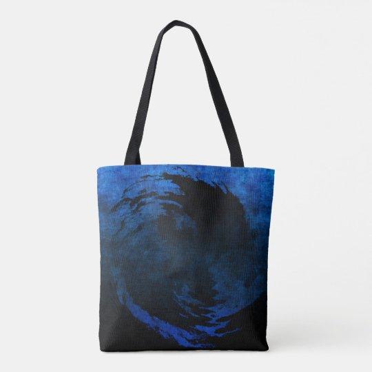 Arte abstracto Yin Yang con el tote del efecto del Bolso De Tela