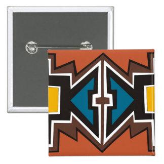 Arte africano abstracto colorido chapa cuadrada 5 cm
