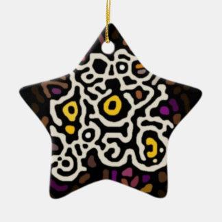 Arte africano ornamento de navidad