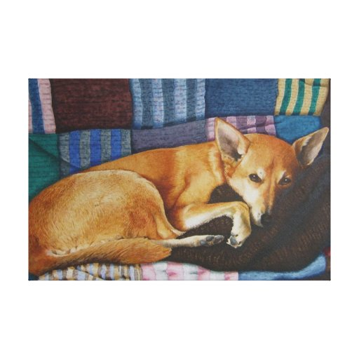arte alemán lindo del retrato del mascota de la cr impresion de lienzo