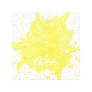 Arte amarillo de la pared del cáncer