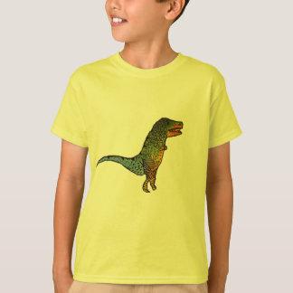 Arte amarillo del dinosaurio de T-Rex de los niños Camiseta