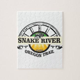 arte amarillo del río Snake Puzzle