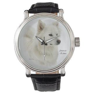 Arte americano del perro esquimal reloj de pulsera