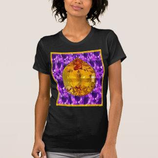 Arte Amethyst de las gemas del Topaz de oro Camiseta