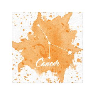 Arte anaranjado de la pared del cáncer