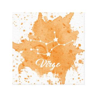 Arte anaranjado de la pared del virgo