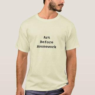 Arte antes de la camiseta del quehacer doméstico