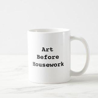 Arte antes de la taza del quehacer doméstico