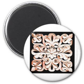 Arte antiguo abstracto S de la moda del estilo de  Imán Redondo 5 Cm