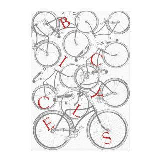 Arte apilado de la lona de las bicicletas