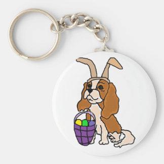 Arte arrogante divertido de Pascua del perro de Llavero Redondo Tipo Chapa