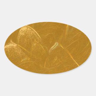 Arte artístico DE ORO de la hoja de oro de LOTUS Pegatina Ovalada