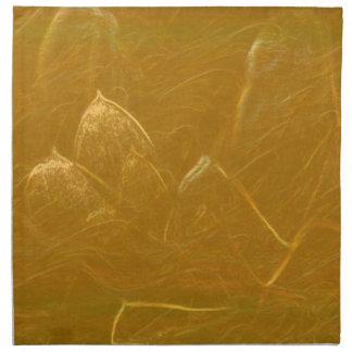 Arte artístico DE ORO de la hoja de oro de LOTUS Servilleta De Tela