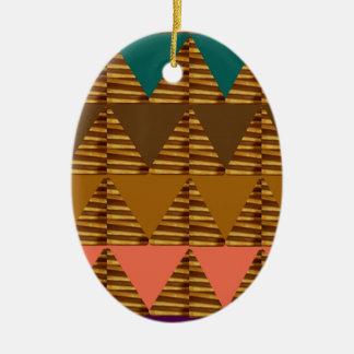 ARTE ARTÍSTICO del triángulo: Golpeteo colorido de Adornos De Navidad