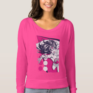 Arte atractivo retro del carácter de la Mujer Camiseta