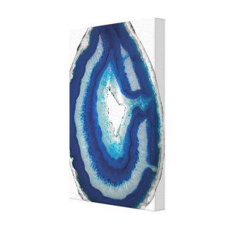 Arte azul de la pared de la ágata