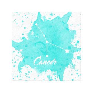 Arte azul de la pared del cáncer