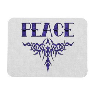 Arte azul de la paz del tatuaje imán