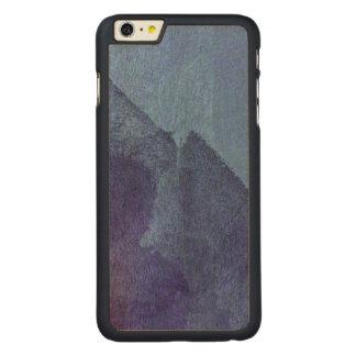 Arte azul de la pintura del extracto de la funda para iPhone 6 de carved® de arce